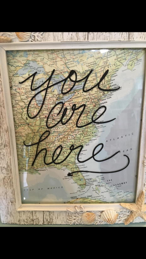 Framed map: You are here