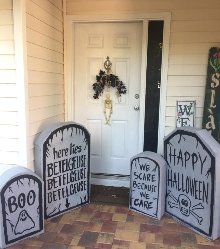 New tombstones, Halloween 2018